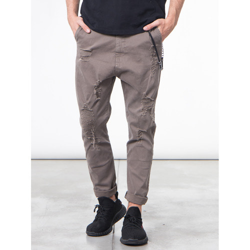[지아니루포]Slim Fit Distressed Rip Roy 치노팬츠(MD)