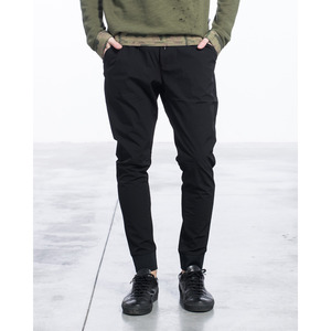 [지아니루포]Slim Fit Drawstring Tech Trousers With Cuffs GLK061 남성팬츠(블랙)