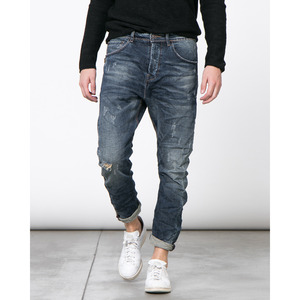 [지아니루포]Slim Fit Rips Lesther patch S891 청바지